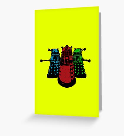Pop Daleks Greeting Card