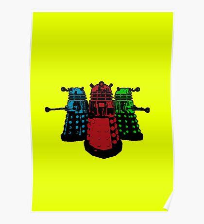 Pop Daleks Poster