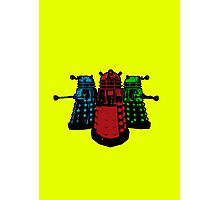 Pop Daleks Photographic Print