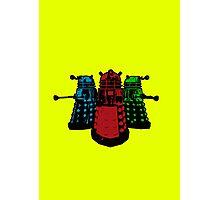 Pop Daleks Photographic Print