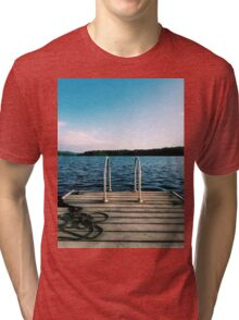 Dock Ladder Photograph Tri-blend T-Shirt