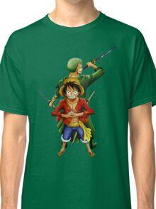 one piece roronoa zoro monkey d luffy anime manga shirt Classic T-Shirt