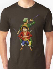 one piece roronoa zoro monkey d luffy anime manga shirt T-Shirt