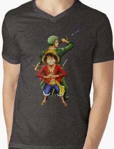 one piece roronoa zoro monkey d luffy anime manga shirt Mens V-Neck T-Shirt