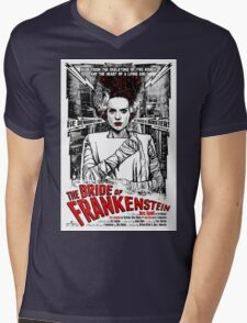 Bride of Frankenstein. Elsa Lanchester. Movie. Horror.  Mens V-Neck T-Shirt