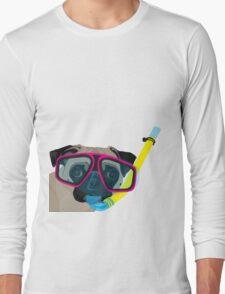 Snorkel Pug, Snorkel Pug! Does whatever a snorkel pug does!!! Long Sleeve T-Shirt