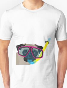 Snorkel Pug, Snorkel Pug! Does whatever a snorkel pug does!!! T-Shirt