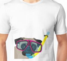 Snorkel Pug, Snorkel Pug! Does whatever a snorkel pug does!!! Unisex T-Shirt