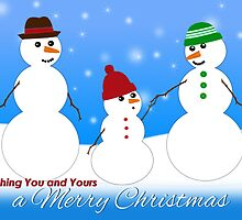 Merry Christmas, Snowman Family  by Lorene  Troyer