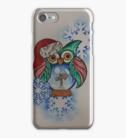 Owl Snow Globe North Pole iPhone Case/Skin