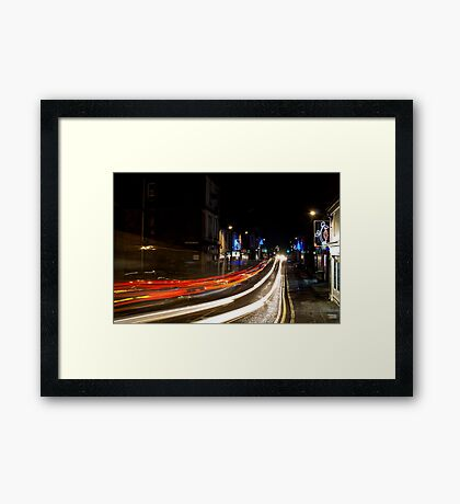 Kilbirnie Main Street at Christmas Framed Print