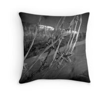 Barbed Wire - British Columbia Canada Throw Pillow