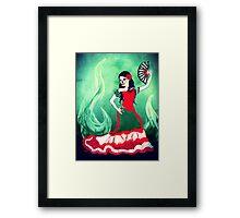 spanish sugar skull dancer Framed Print