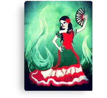 spanish sugar skull dancer Canvas Print