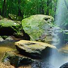 Horseshoe Falls, Hazelbrook, New South Wales, Australia by Michael Boniwell