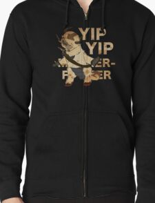 YIP YIP MOTHER F**KER Zipped Hoodie