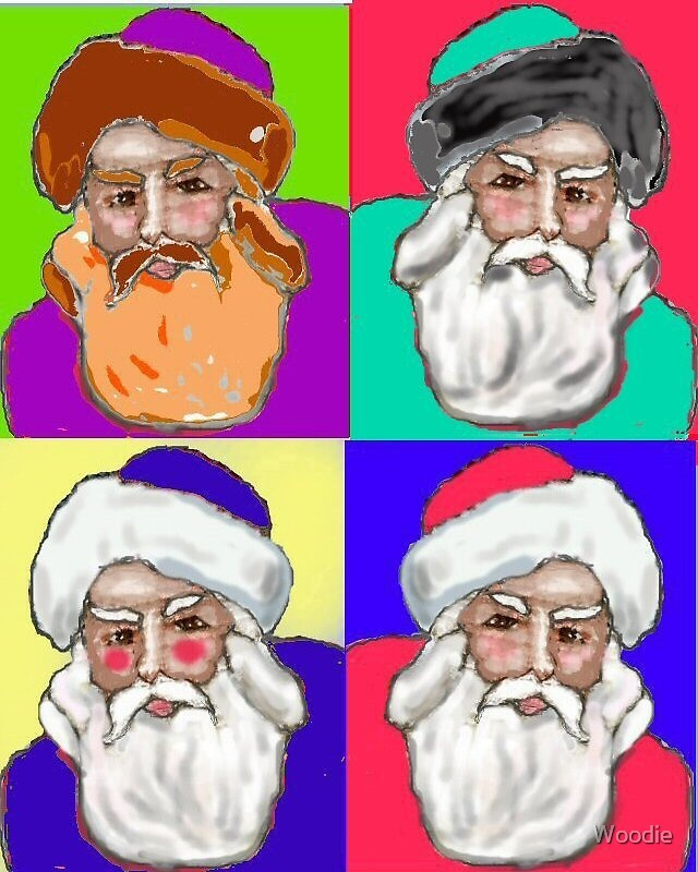 Father Xmas Warhol style by Woodie