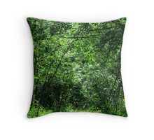 canopy Of Trees - British Columbia Canada Throw Pillow