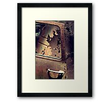 Rusty Door Framed Print