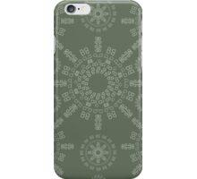 Monogram pattern (B) in Deep Lichen iPhone Case/Skin