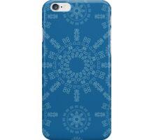 Monogram pattern (B) in Mykonos iPhone Case/Skin