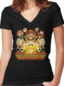 Ultimate Power Women's Fitted V-Neck T-Shirt