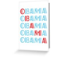obama : text stacks Greeting Card