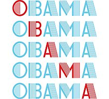 obama : text stacks Photographic Print