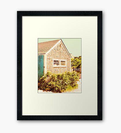 Marthas Vineyard Fishing Shed Framed Print