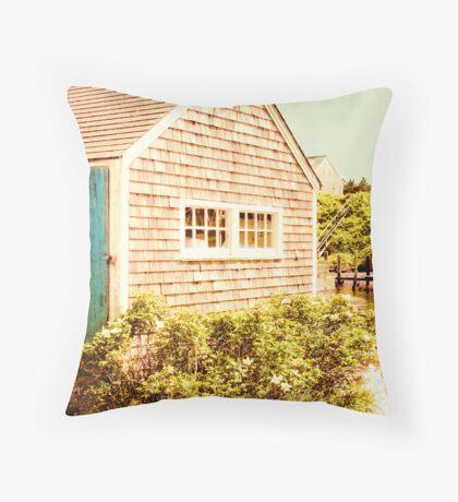 Marthas Vineyard Fishing Shed Throw Pillow