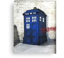 Dalek Gettin' Up Canvas Print