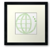 ecoecho : green earth Framed Print