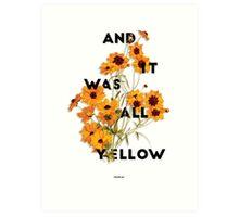 Yellow 3 Art Print