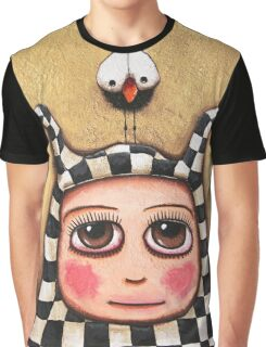 The Harlequin girl & crow Graphic T-Shirt