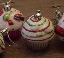 Christmas Cupcakes Sticker
