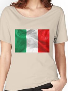 Italian Flag Women's Relaxed Fit T-Shirt