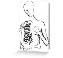 lonely skele Greeting Card