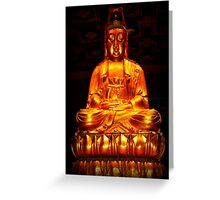 Asian Golden Buddha Greeting Card