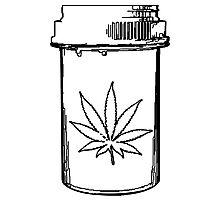 marijuana medical bottle Photographic Print