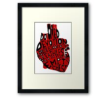 empty chest : anatomical heart (large red) Framed Print