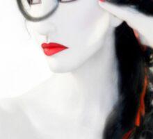 My Red Melancholy - Self Portrait Sticker