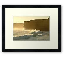 Joe Mortelliti Gallery - Sound and light show at Sherbrooke Beach, near Port Campbell and the Twelve Apostles, Great Ocean Road, Victoria, Australia. Framed Print