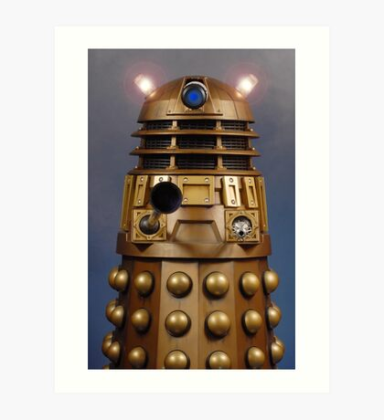 Doctor Who Gold Dalek Art Print