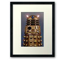 Doctor Who Gold Dalek Framed Print