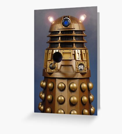 Doctor Who Gold Dalek Greeting Card