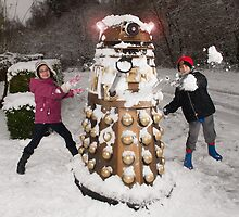 Snowball attack for Doctor Who Dalek by ChrisBalcombe