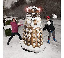 Snowball attack for Doctor Who Dalek Photographic Print