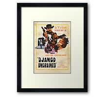 The D is silent Framed Print