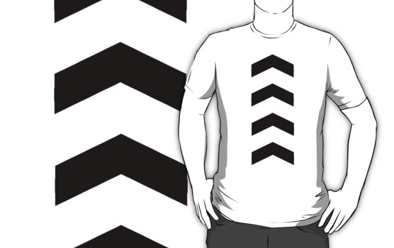 These Chevrons Point in One Direction by wandairekushon