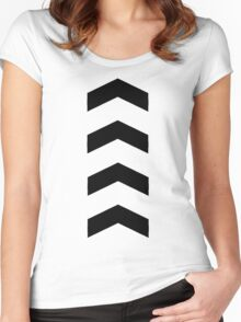 These Chevrons Point in One Direction Women's Fitted Scoop T-Shirt